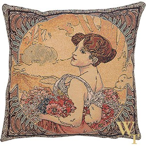 Mucha Summer Cushion Cover