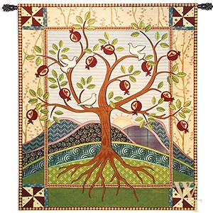 Pomegranate Tree of Life Tapestry