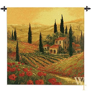 Poppies of Toscano Tapestry