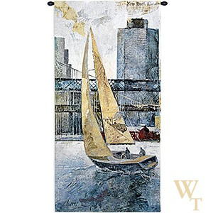 Sailing In The Afternoon - Left Panel Tapestry