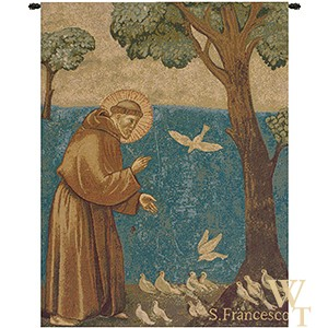 St Francis Preaching to the Birds Tapestry