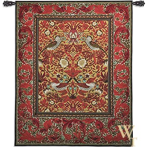Strawberry Thief Decor Tapestry