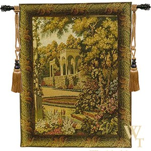 Temple in Lake Como Tapestry