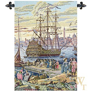 The Galleon - No Border Tapestry