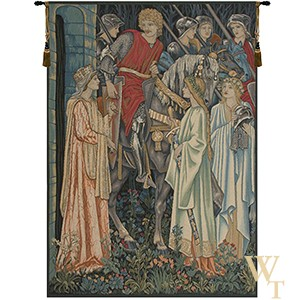 The Holy Grail (Left Panel) - No Border Tapestry