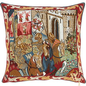 Tournoi Des Chevaliers Cushion Cover