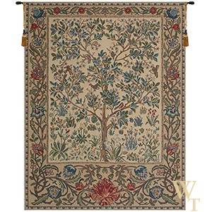 Tree of Life Beige II Tapestry