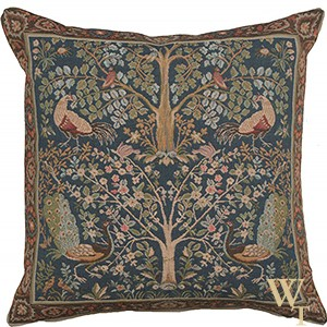 Tree of Life - Blue Cushion Cover