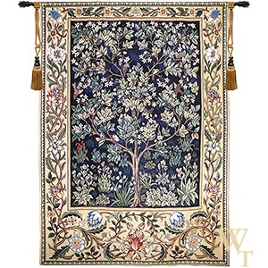 Tree of Life Blue Tapestry