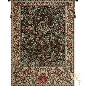 Tree of Life - Brown and Rose Tapestry