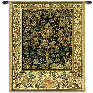 Tree of Life Midnight Blue Tapestry