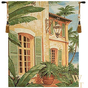 Tropical Villa Tapestry