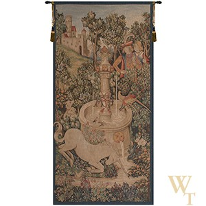 Unicorn at the Fountain II Tapestry