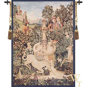Unicorn at the Fountain Tapestry