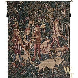 Unicorn Hunt - No Border Tapestry