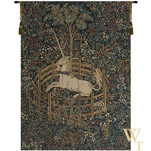 Unicorn in Captivity II Tapestry