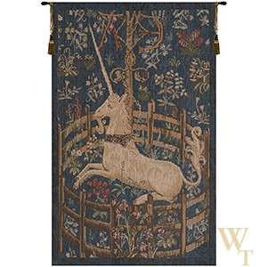 Unicorn in Captivity III Tapestry