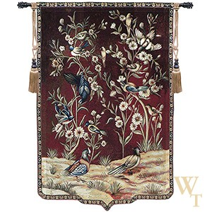 Wild Birds and Flowers Tapestry