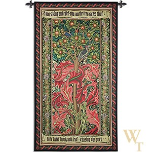 William Morris Woodpecker III Tapestry